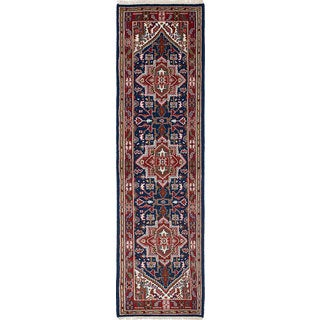 eCarpetGallery Hand-Knotted Royal Heriz Blue Wool Rug (2'8 x 9'9)