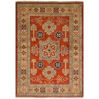 eCarpetGallery Hand-Knotted Finest Gazni Brown  Wool Rug (3'4 x 5'1)