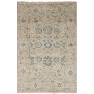 eCarpetGallery Hand-Knotted Royal Ushak Yellow Wool Rug (5'0 x 7'11)