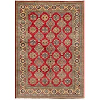 eCarpetGallery Hand-Knotted Finest Gazni Red  Wool Rug (6'8 x 9'10)