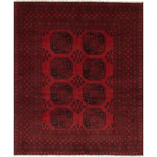 eCarpetGallery Hand-Knotted Khal Mohammadi Red Wool Rug (5'1 x 6'4)
