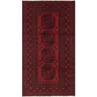 eCarpetGallery Hand-Knotted Khal Mohammadi Red  Wool Rug (3'4 x 6'3)
