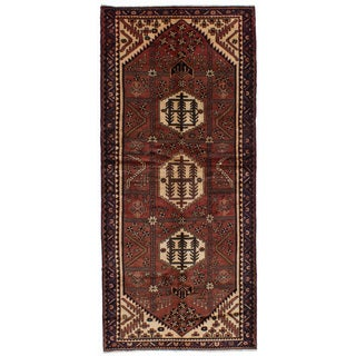 eCarpetGallery Hand-Knotted Hamadan Red Wool Rug (4'1 x 9'1)