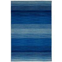 eCarpetGallery Flatweave Manhattan Blue  Wool Kilim (4'11 x 7'10)