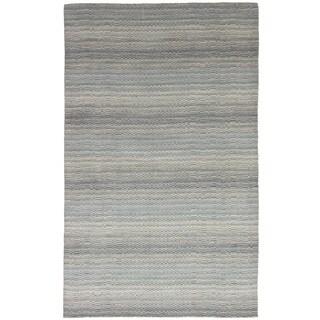 eCarpetGallery Hand-Knotted Luribaft Gabbeh Riz Blue Wool Rug (4'10 x 8'0)