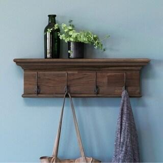 Nova Solo - Four - Hook coat rack Teak Wood