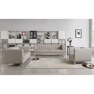 Angela Grey Fabric Modern Sofa And Loveseat Set Free
