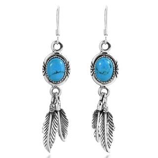 Link to Handmade Bohemian Feathers Dangle Earrings (Thailand) Similar Items in Earrings