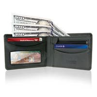 Visconti Mens Leather Multi Card ID Bifold RFID Wallet