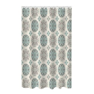 Dobie Medallion Design Shower Curtain with Hooks