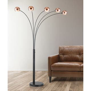 Buy candelabra floor lamps online at overstock our best hometrend orbs copper finish 5 light dimmable arch floor lamp aloadofball Gallery