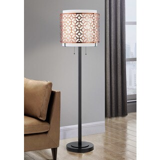 HomeTREND Melrose Copper Metal Floor Lamp