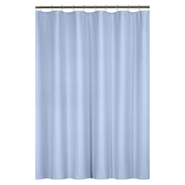 shop waffle weave shower curtain with metal grommets on sale free shipping on orders over. Black Bedroom Furniture Sets. Home Design Ideas