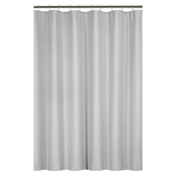 Waffle Weave Shower Curtain with Metal Grommets - Free Shipping On ...