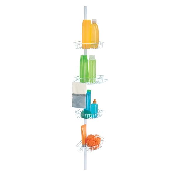 Shop 4 Tier Corner Shower Caddy and Organizer - White - Free ...