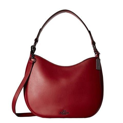 Coach Nomad Dark Cherry Leather Crossbody Handbag