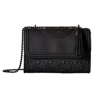 Tory Burch Fleming Convertible Matte Small Leather Shoulder Bag