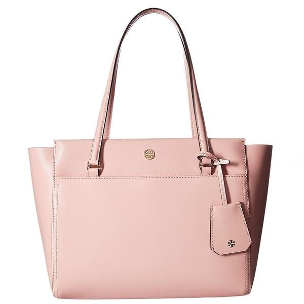 ea883e739834 Shop Tory Burch Parker Pink Quartz Cardamom Small Tote Bag - Free ...