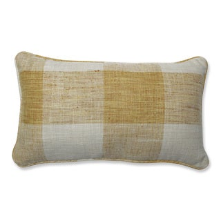 Pillow Perfect Indoor Check Please Sunshine Yellow Throw Pillow