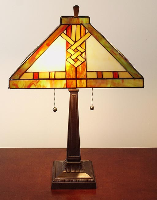 Tiffany Style Mission Style Table Lamp
