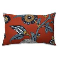 Pillow Perfect Indoor Auretta Persimmon Blue Throw Pillow