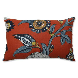Pillow Perfect Indoor Auretta Persimmon Blue Throw Pillow