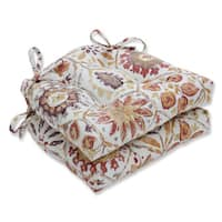Pillow Perfect Indoor Antique Stone Spice Purple Reversible Chair Pad (Set of 2)