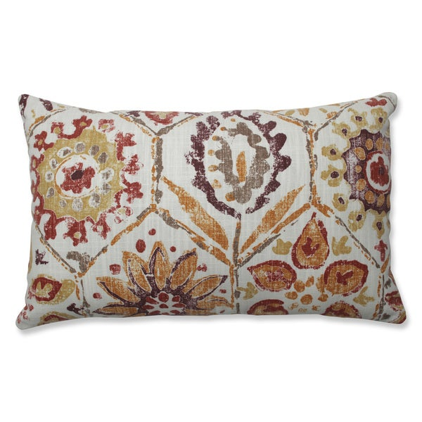 Pillow Perfect Indoor Antique Stone Spice Purple Throw Pillow
