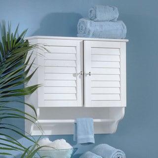 Shop White Nassau Wall Mount Towel Cabinet Free Shipping