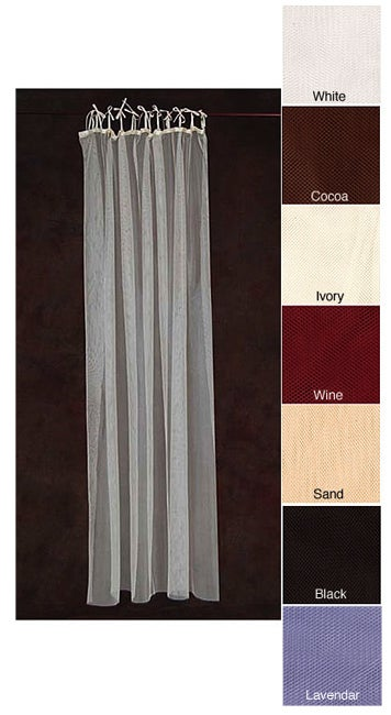 Sheer Netting Tab Top 87-inch Curtain Panel Pair