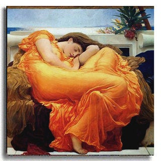 Flaming June by Leighton Stretched Canvas Artwork