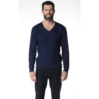 Solid V-Neck Men's Sweater