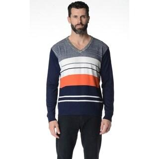 V-Neck Striped Men's Regular Fit