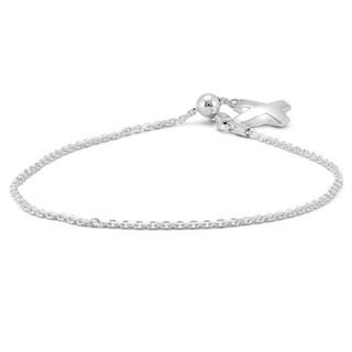 X Charm Bolo Chain Bracelet in .925 Sterling Silver