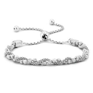 Italian Made Bolo Bracelet in .925 Sterling Silver - charm
