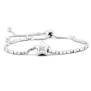 Star Charm Bolo Bracelet in .925 Sterling Silver
