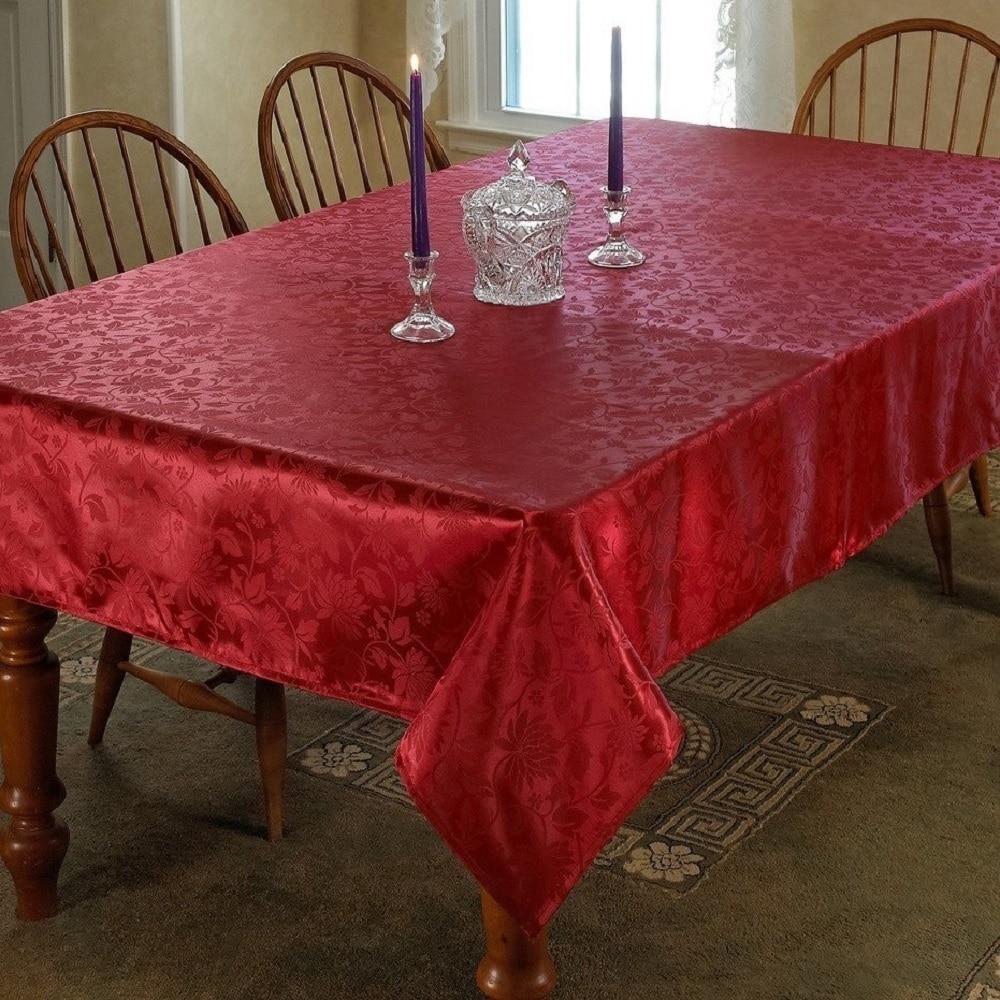 Violet Linen European Floral Design Tablecloth - Assorted...