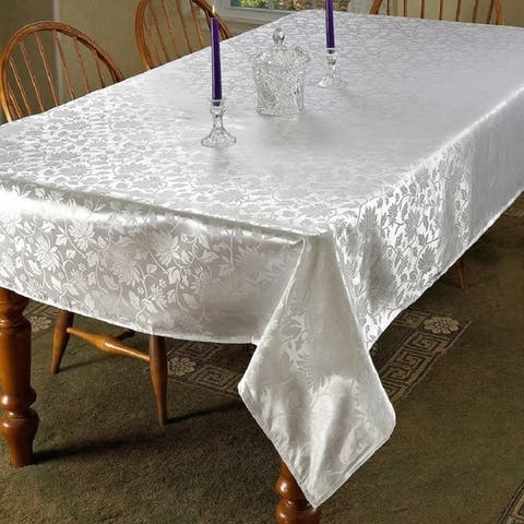 Violet Linen European Floral Design Tablecloth - Assorted Colors