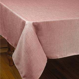 Violet Linen Euro Linen Stain Free Tablecloth - Assorted Colors (Option: Cranberry - 68x108)