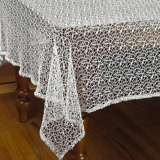 Violet Linen Luxurious Crochet Classic Vintage Tablecloth