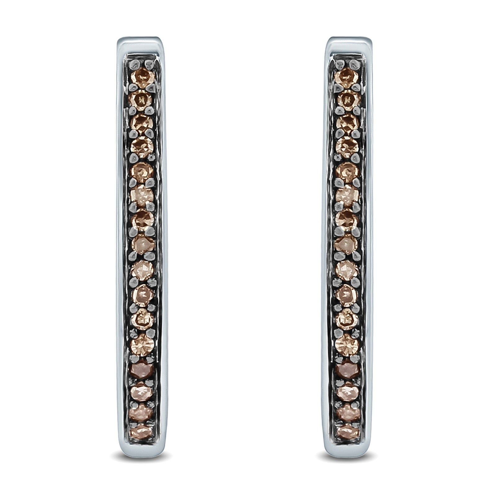 small platinum earrings with 1//10 carat diamond total weght
