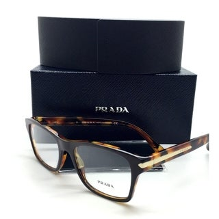 Prada New Authentic Tortoise Brown Havana Gold Women Eyeglasses VPR 16S UBS 1O1 54 18 140