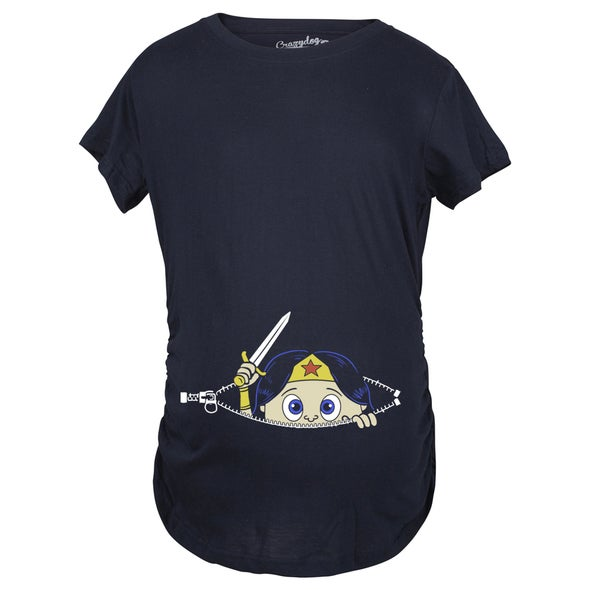 eb98e47a8f715 Shop Maternity Peeking Women Warrior Superhero Pregnancy Shirt - Free  Shipping On Orders Over $45 - Overstock - 18945956