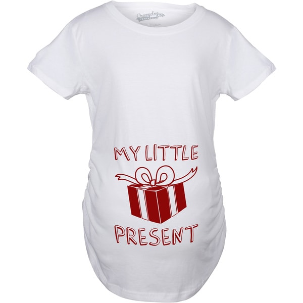 Maternity My Little Present Christmas T Shirt