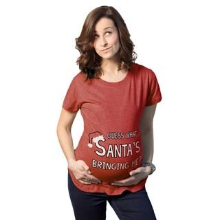 """Maternity """"Guess What Santas Bringing"""" Christmas T-shirt"""