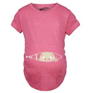 Maternity Baby Peeking Shirt Pregnancy Announcement T-shirt