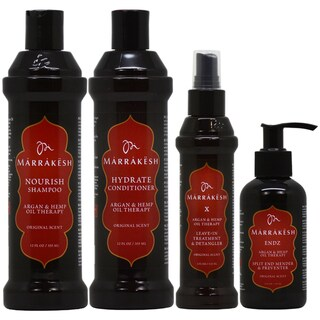 Marrakesh Original Shampoo, Conditioner, Leave-in Treatment & ENDZ