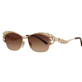 Caviar 5594 C16 Womens Gold Frame Brown Lens Sunglasses