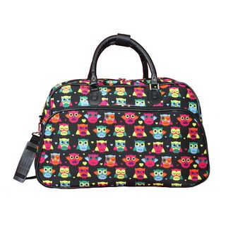 World Traveler Owl 21-Inch Carry-On Shoulder Tote Duffle Bag