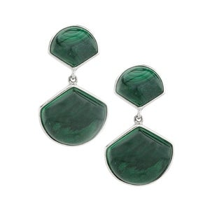Pangea Mines Malachite Fan Drop Earring - Green